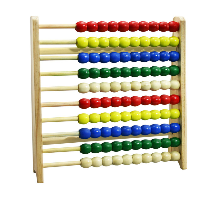 Wooden Abacus 100 Bead Counting Frame