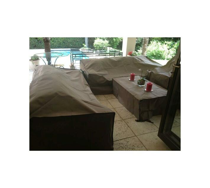 Patio Solution Covers Couch Cover Small - Taupe Ripstop UV 260grm