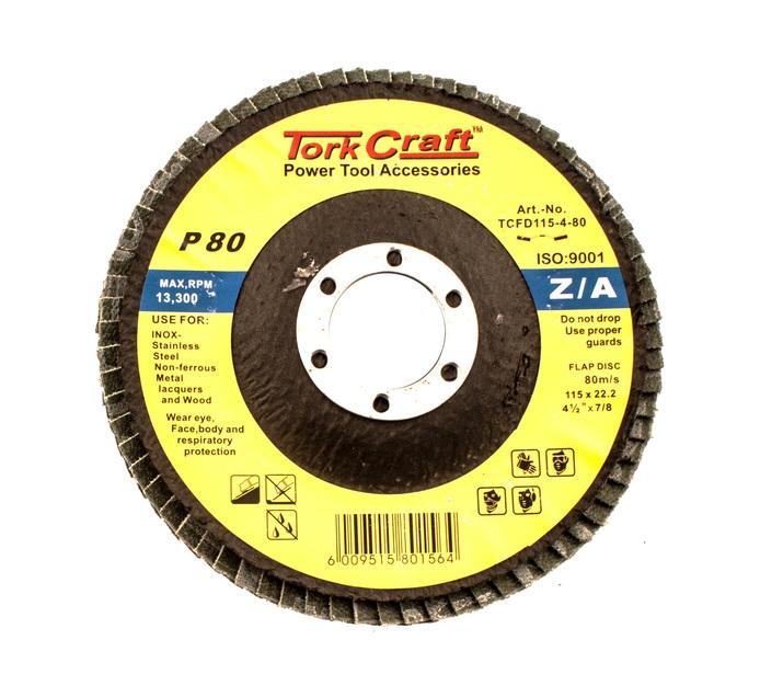 Tork Craft 80 Grid 115mm Zirconium Flap Disc