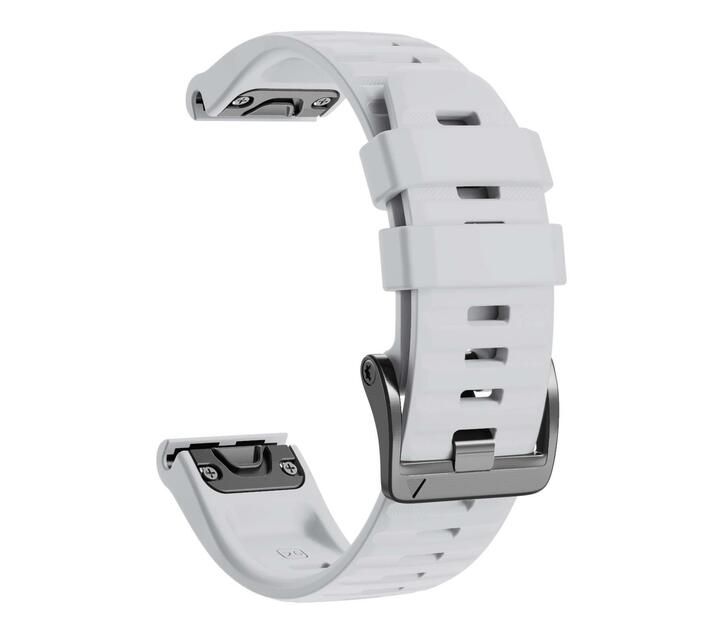 Replacement Silicone Band for Fenix 6X(26mm) -White