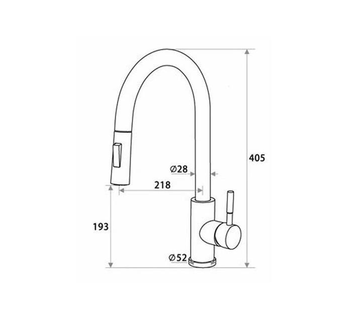 CHROMECATER Sink Mixer `Touch-Open/Close` Pull Out Spout Matt Black