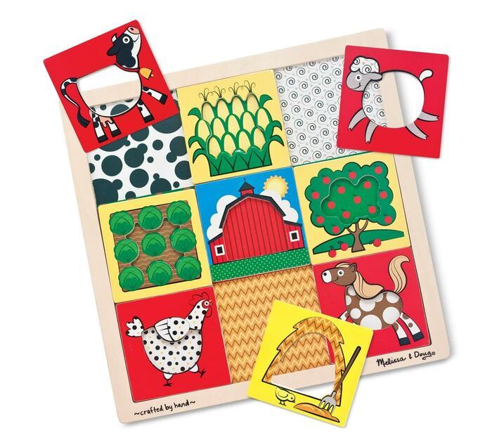 Peek through puzzle farm