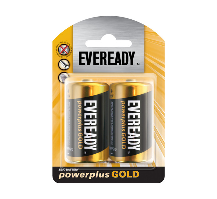 Eveready Power Plus Gold D 2-Pack