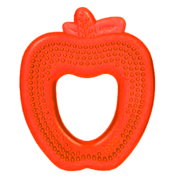 Water Teether - Apple (Green, Yellow or Red), Fish (Pink, Blue or Red), Duck (Pink, Blue or Orange)