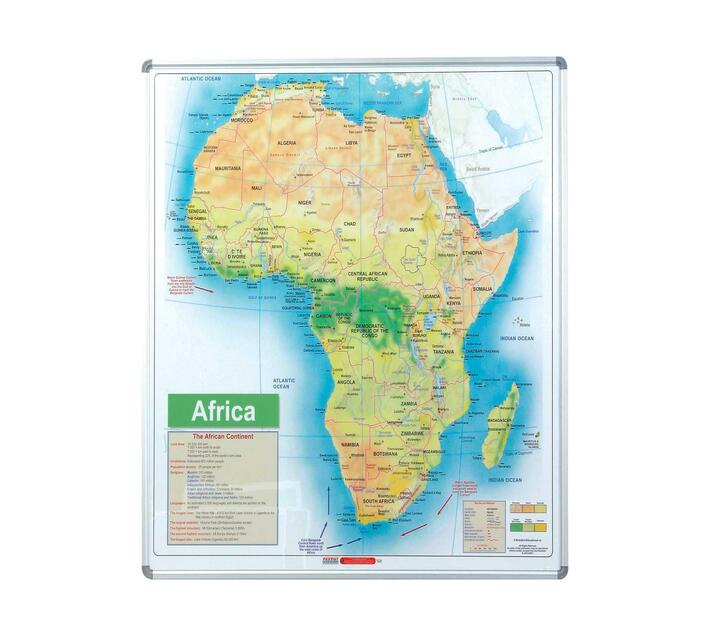 PARROT PRODUCTS Africa Map (1230*930mm, Magnetic White)
