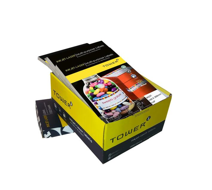 A4 Inkjet- Laser Labels - W231 - 199.6x289 - 1UP - 1000 sheets