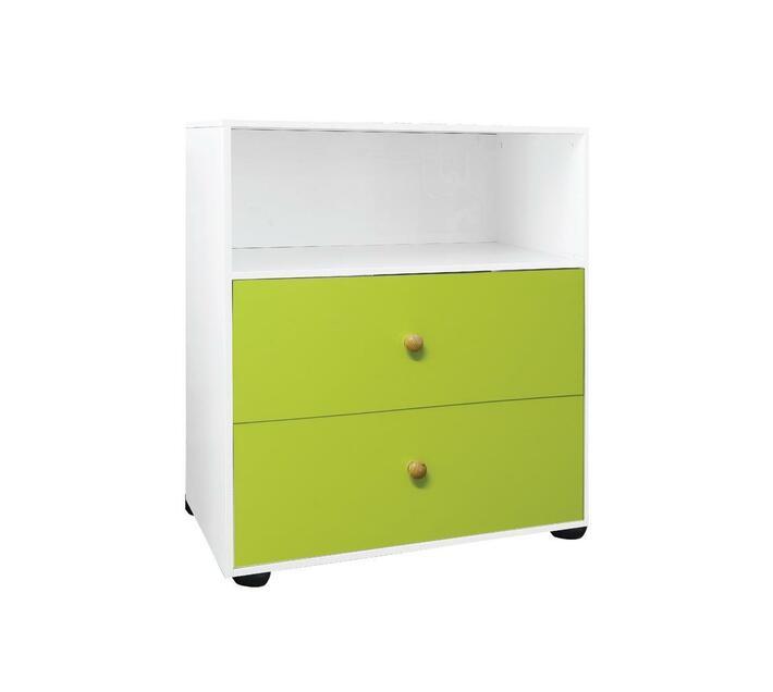 Compactum 2 Drawer Open Shelf Storage UV Green