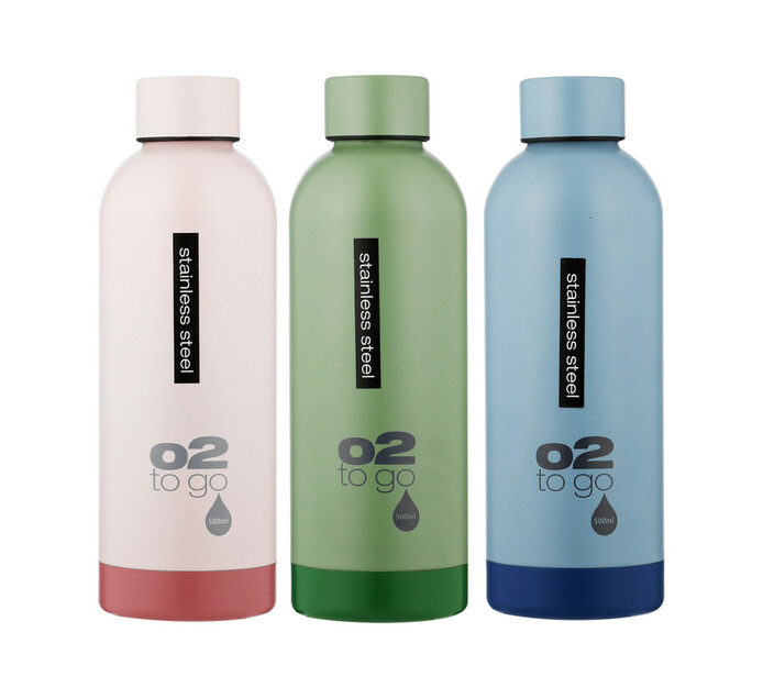 O2 500 ml 02 Stainless Steel double wall