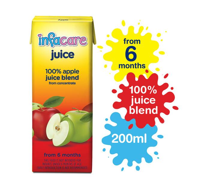Infacare Fruit Juice Clear Apple (6 x 200ml)