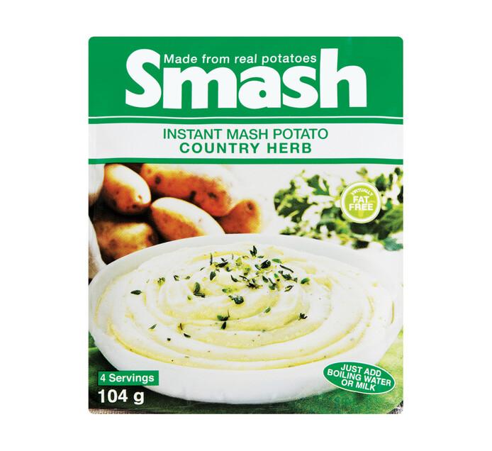 Smash Instant Mash Potato Country Herb (1 x 104g)