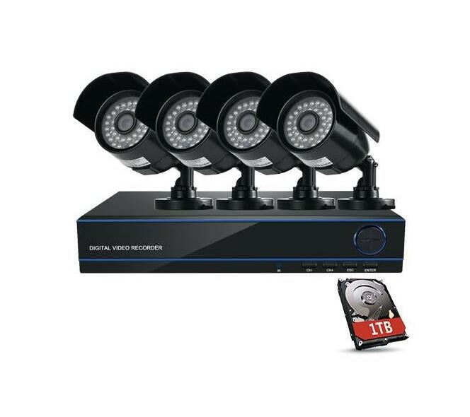 Securitymate CCTV 4 Channel HD DVR Kit with 4 x Camera`s + 1 X 1TB Hard Drive