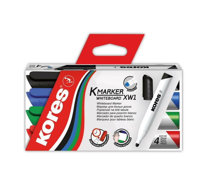 Kores Whiteboards markers set of 4