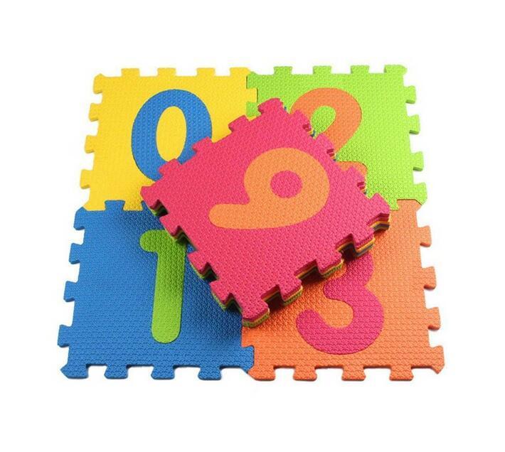 Totland Baby Soft EVA Foam Play Mat/ Kids Puzzle - 10 pcs