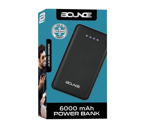 Bounce Juiced Series 6000mAh Powerbank - Black