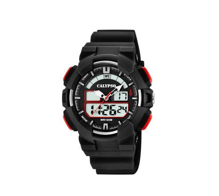 Calypso Mens Digital Cadet Analog Sports Watch - Red & Black