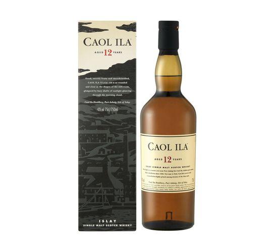 Caol Ila 12 YO Single Islay Malt Scotch Whisky (1 x 750ml)