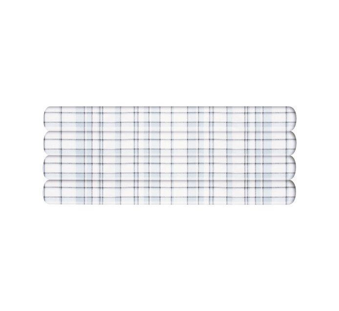 Primaries Double Fitted Sheet tartan grey