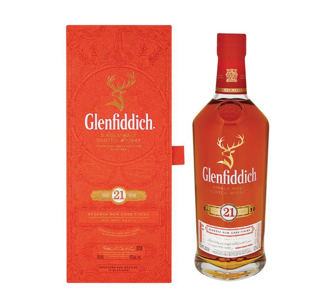 Glenfiddich 21 YO Grand Reserve Rum Cask Finish Single Malt Scotch Whisky (1 x 750ml)