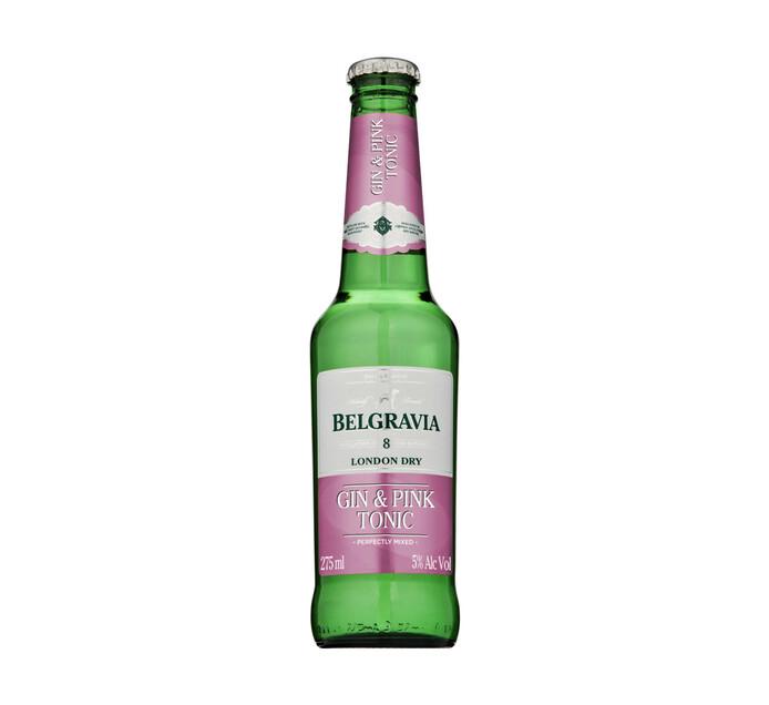 Belgravia Gin & Pink Tonic RTD (6 x 275 ml)
