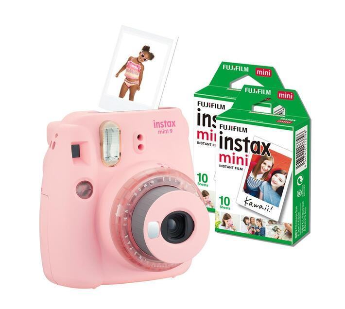 Instax Mini 9 Clear Pink (camera + 1 film)