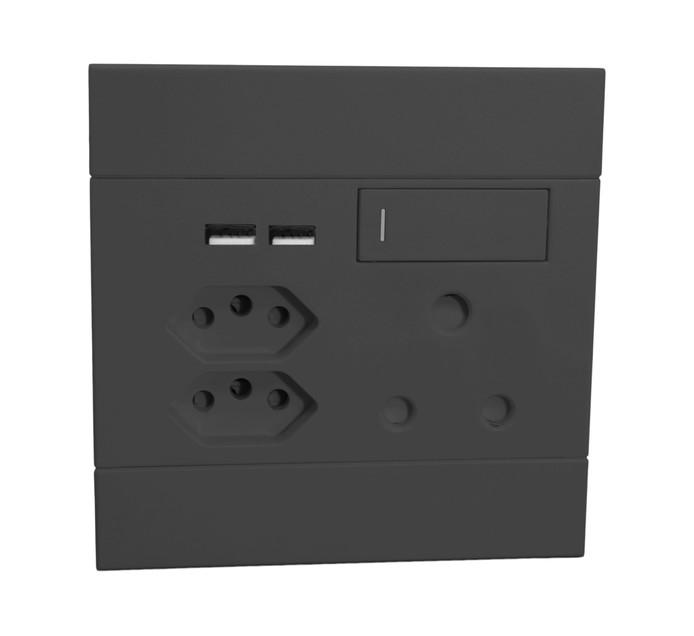Major Tech 100 mm x 100 mm Veti 2 Euro USB Single Socket