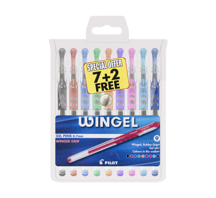 Pilot Wingel Gel Pen Assorted 9 Pack Assorted