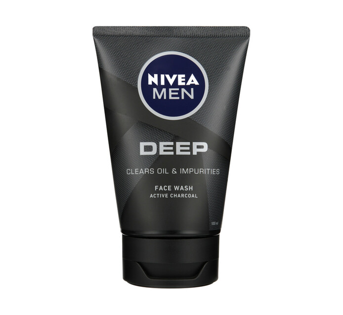 Nivea Men Gel Face Cleanser Deep (6 x 100ml)