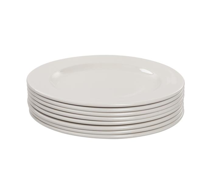 Continental Crockery 27 cm Polaris Dinner Plates 6+2-Pack