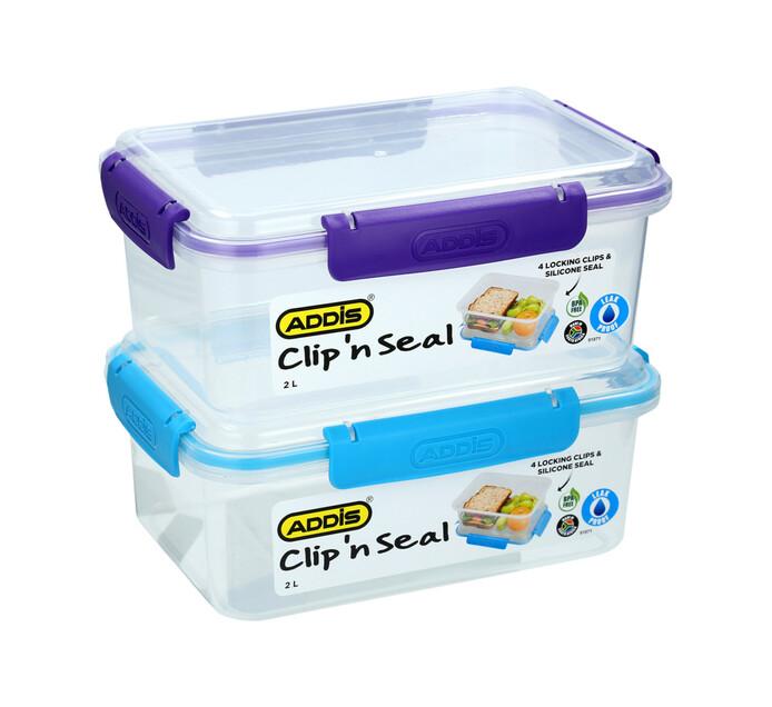 Addis 2 l Clip 'n Seal Rectangular Lunch Box