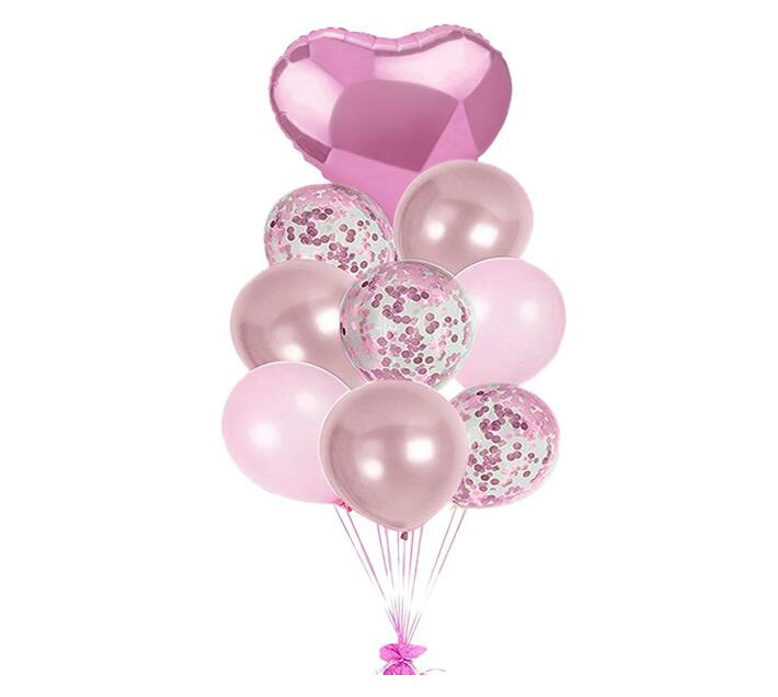 BubbleBean - Light Pink Bunched Balloon 9pc