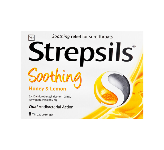 Strepsils Lozenges Honey & Lemon (1 x 8's)