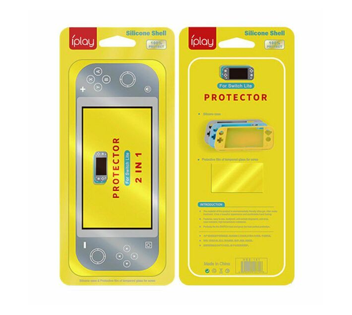 iPlay 2-in-1 Silicone Cover with Screen Protector Switch Lite (Yellow)