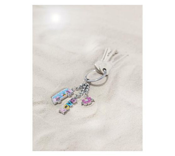 Troika Keyring with 3 Charms VW CALIFORNIA T1 COMBI