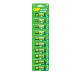 GP Greencell Carbon Zinc AA Card of 10