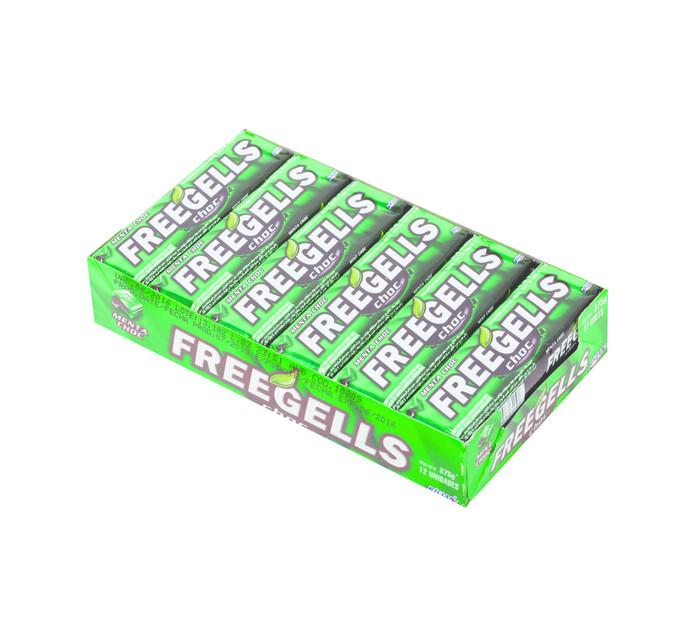 FREEGELLS Lozenges Rolls Choc Mint (1 x 12's)