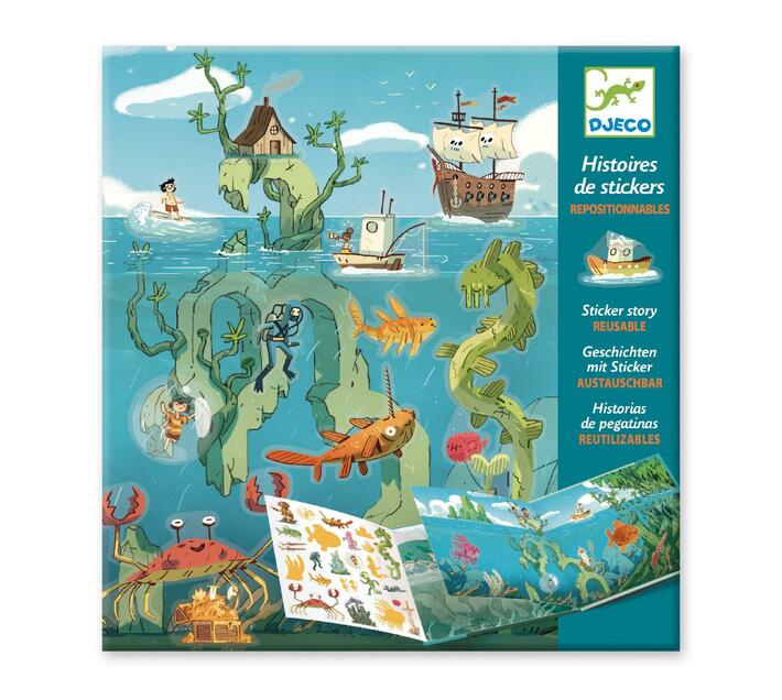 Djeco Sticker Stories- Adventures at Sea