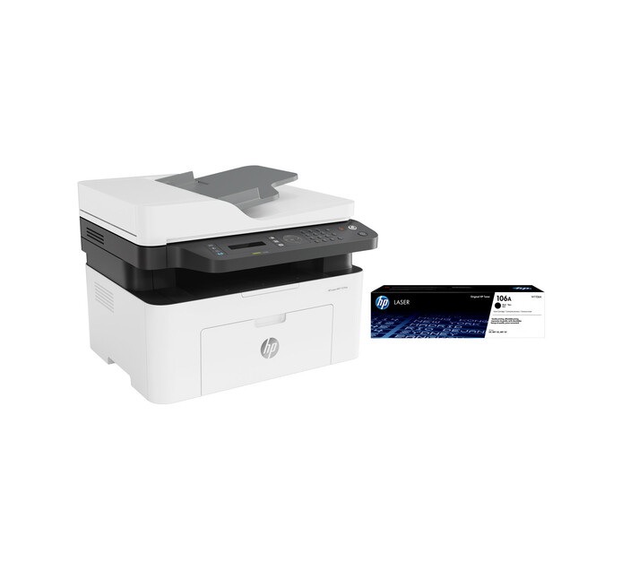 HP 137FNW 4 in 1 Mono Laser Printer Bundle