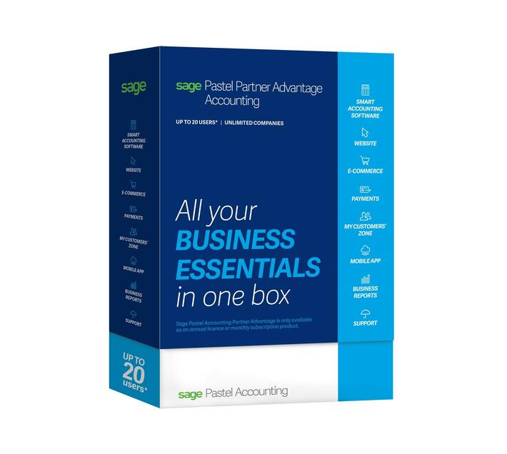 Sage 50cloud Pastel Partner Accounting (2 Users, Unlimited Companies)