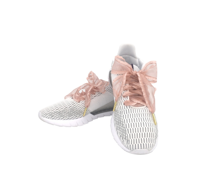Satin Shoelaces Nude Pink