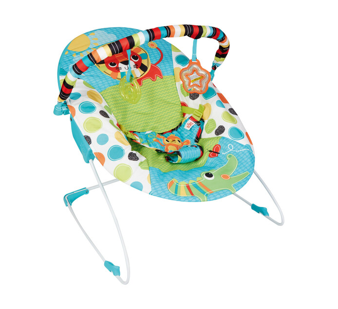 Bright Starts Vibrating Bouncer - Zebra