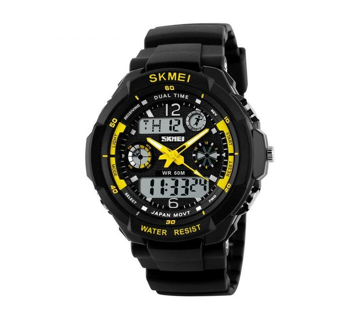 Skmei Men`s 5ATM Water Resistant Watch - Yellow