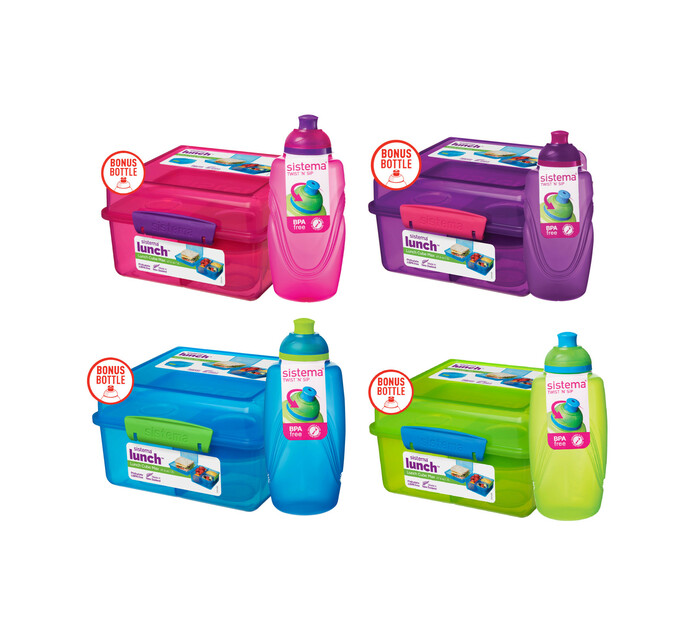 Sistema Lunch Cube Maxi with Bonus Bottle - Trend