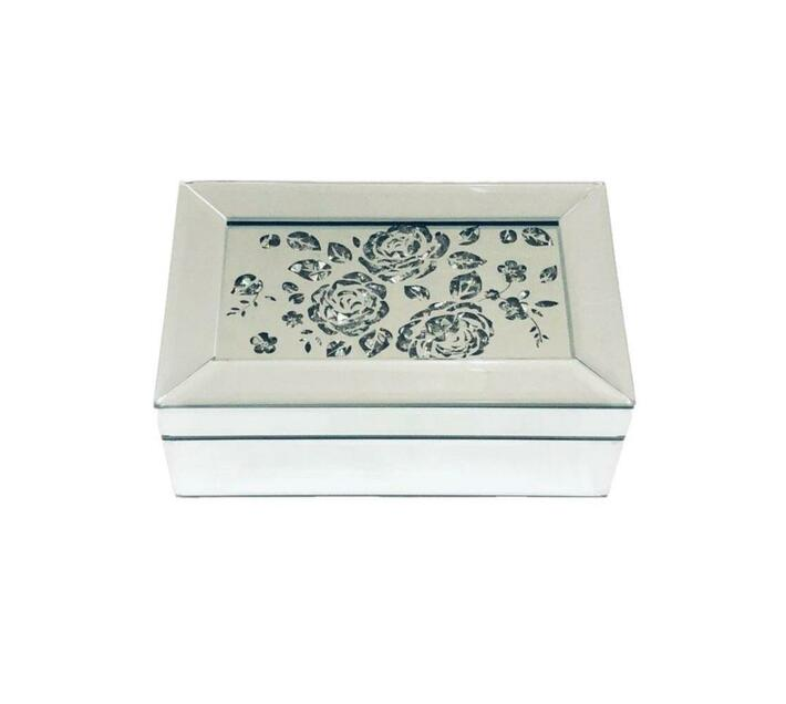 Jewellery Box Rectangle Rose pattern