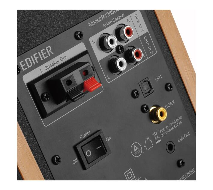 Edifier R1280DBs-BRO Active Bookshelf Speaker with Sub out