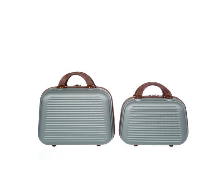 2 Piece Carry Handbag-Silver