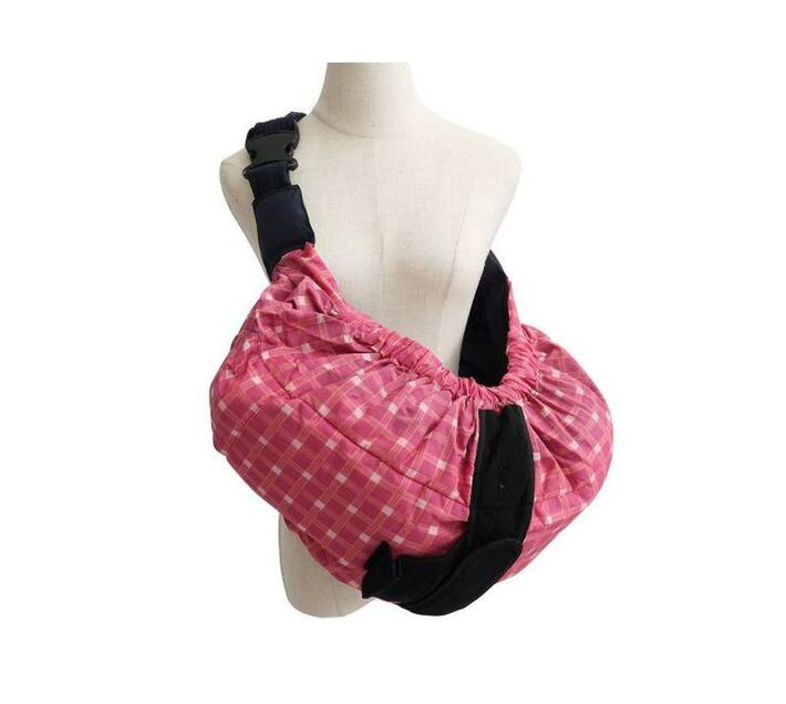 Baby Carry Pouch - Pink Tartan