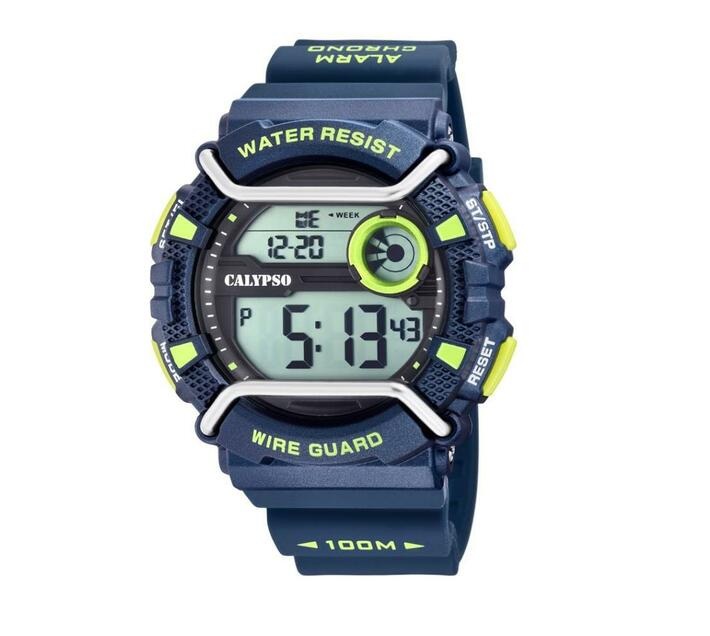 Calpyso Digital Mens Wire Guard Sports Watch - X-Trem Collection