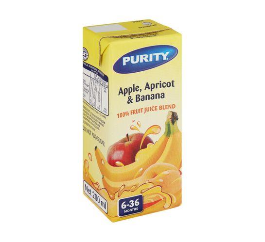 Purity Fruit Juice Apple, Apricot and Banana (6 x 200ml)