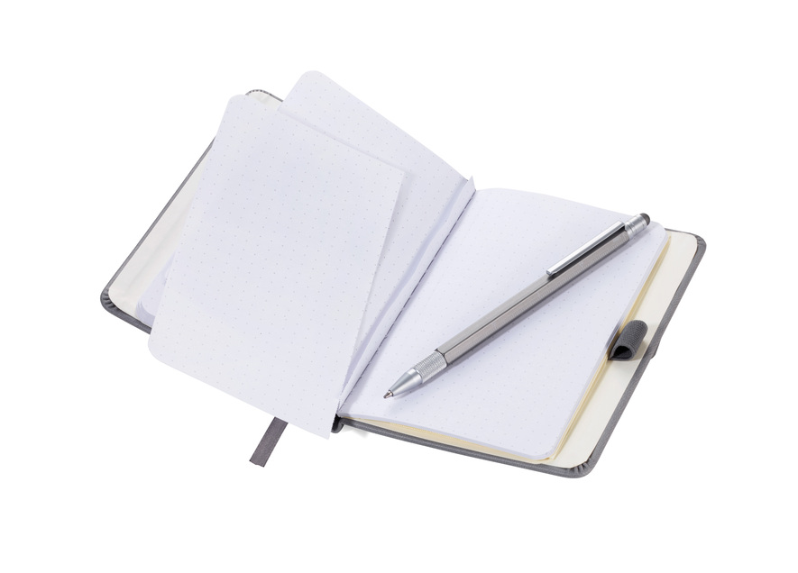 Troika Notepad A6 with Slim Multitasking Ballpoint Pen Red