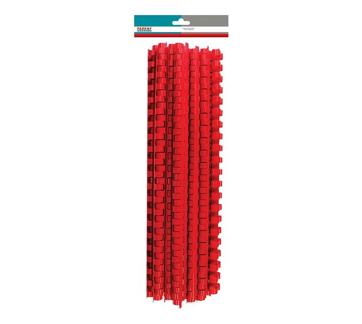 PARROT PRODUCTS Plastic Binder Combs (320 Sheet, 38mm, Red, 25 Units)